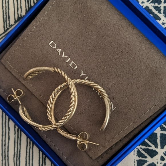 David Yurman Jewelry - David yurman crossover hoops medium